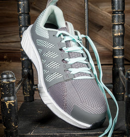 Reebok Women's Fusion Flexweave™ Gray & Mint Athletic Work Shoe  RB316
