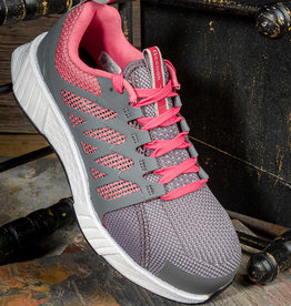 Reebok Women's Fusion Flexweave™ Gray & Red Athletic Work Shoe  RB312
