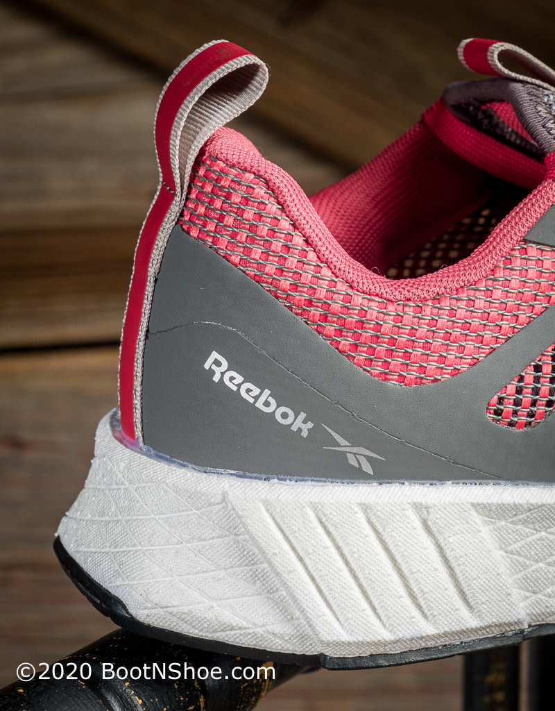 Reebok Women's Fusion Flexweave™ Gray & Red Athletic Work Shoe  RB3162