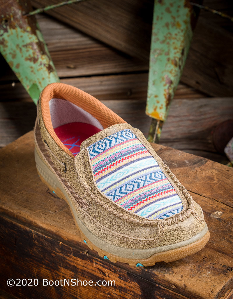 Twisted X Women's Boat Shoe Driving Moc with CellStretch WXC0008
