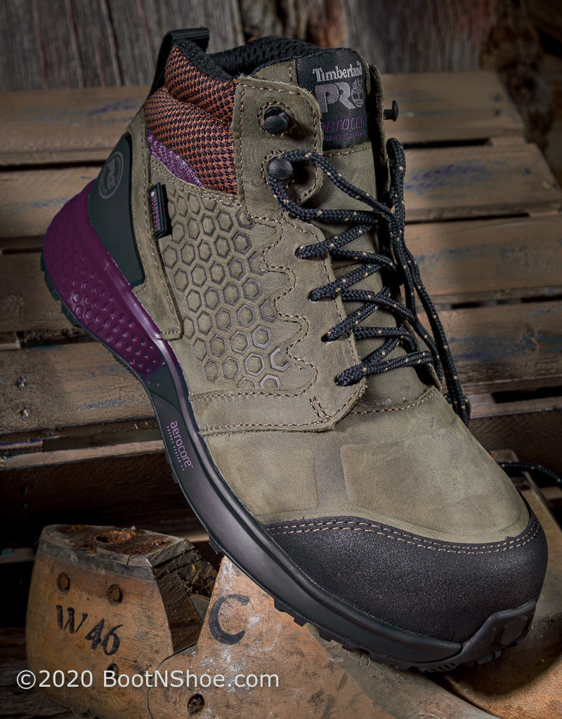 Timberland Pro Women's Purple Reaxion Comp Toe Waterproof Work Boot A219B