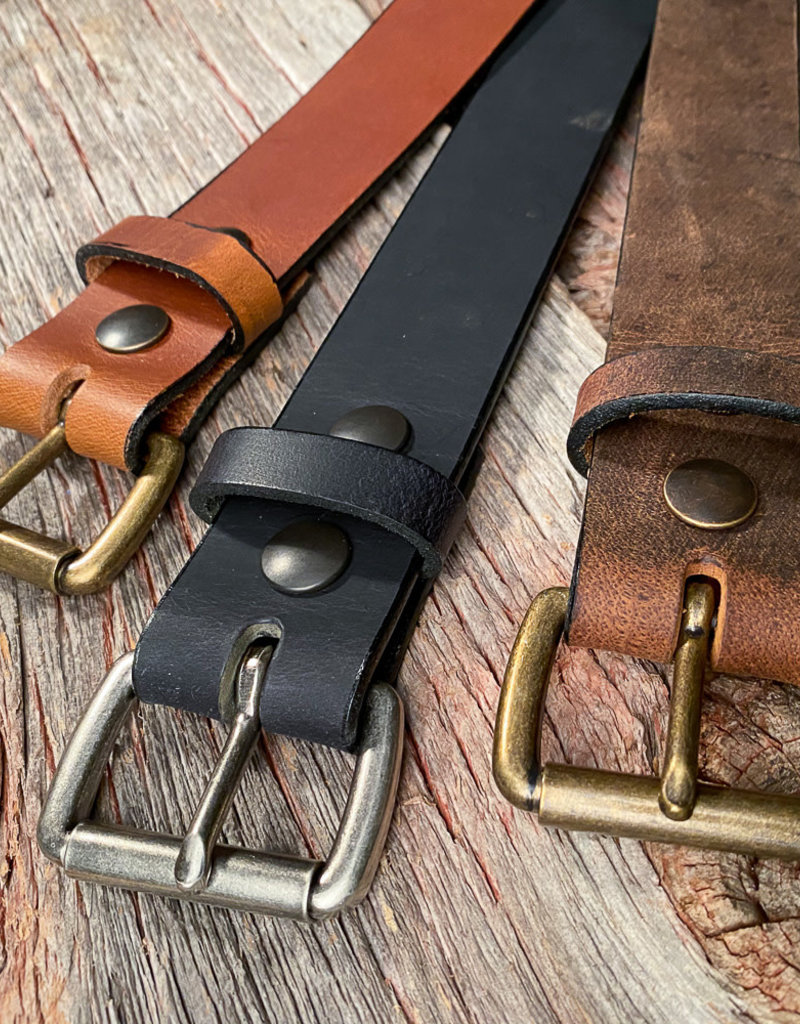 Boyer's Handmade Distressed Brown Belt