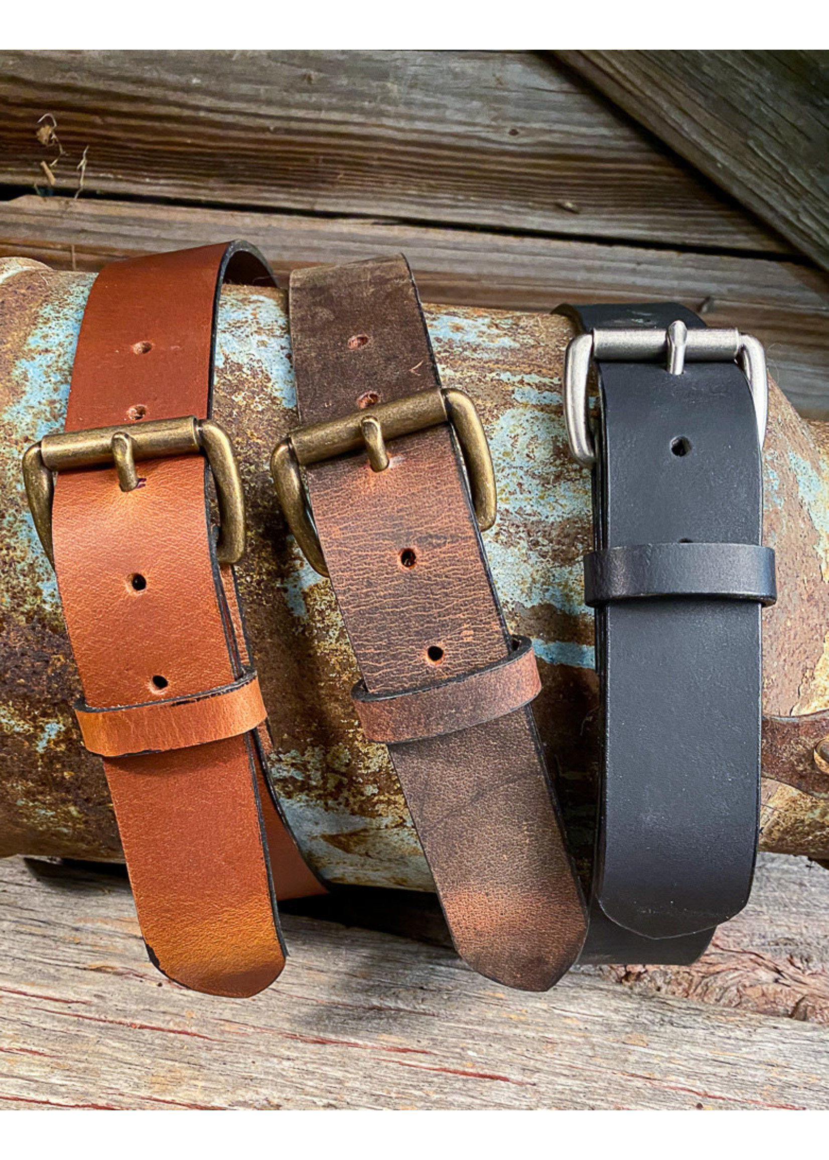 Boyer's Handmade Distressed Brown Belt