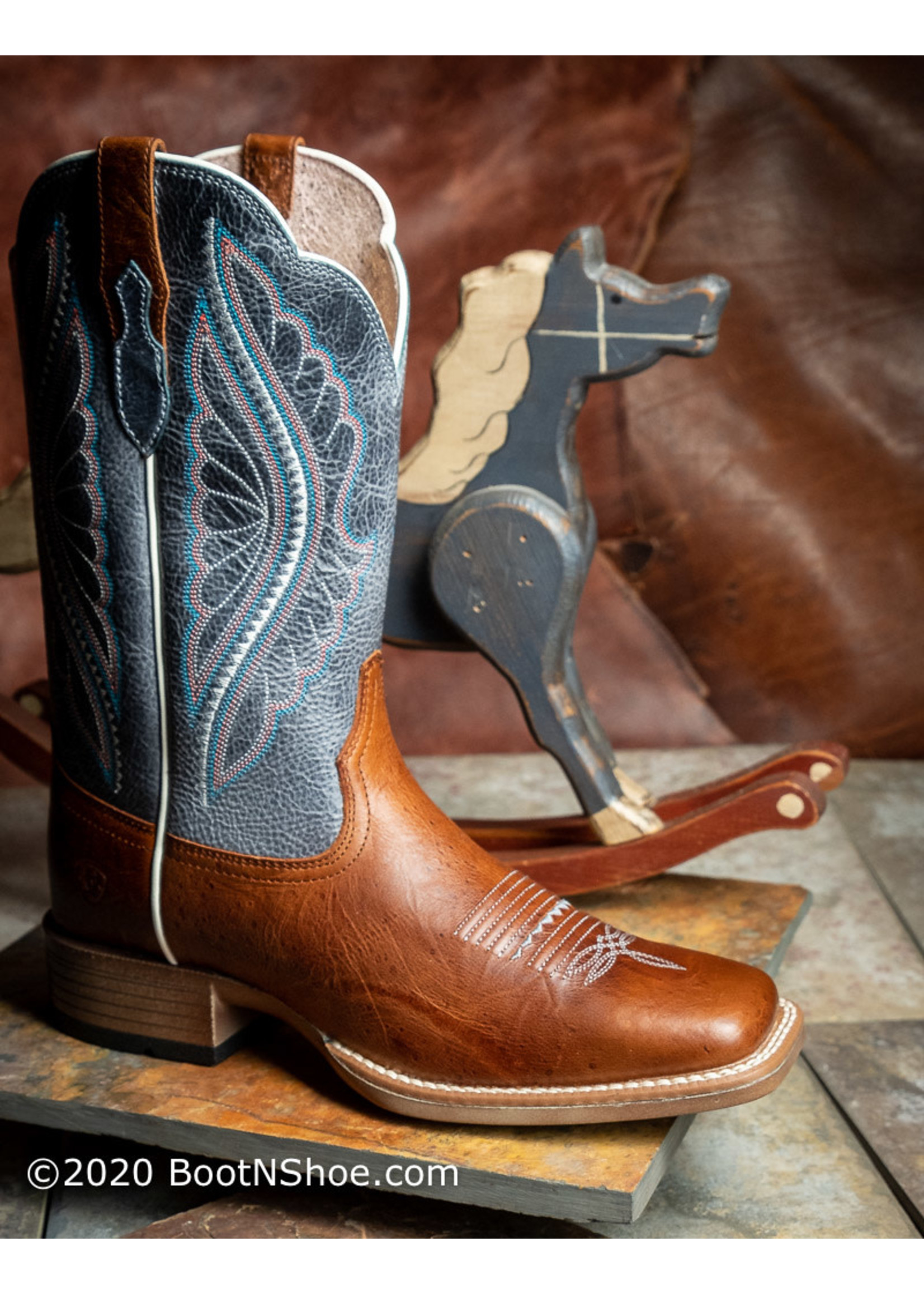 Ariat Women's PrimeTime Gingersnap Baby Blue Eyes Western Boots 10025032