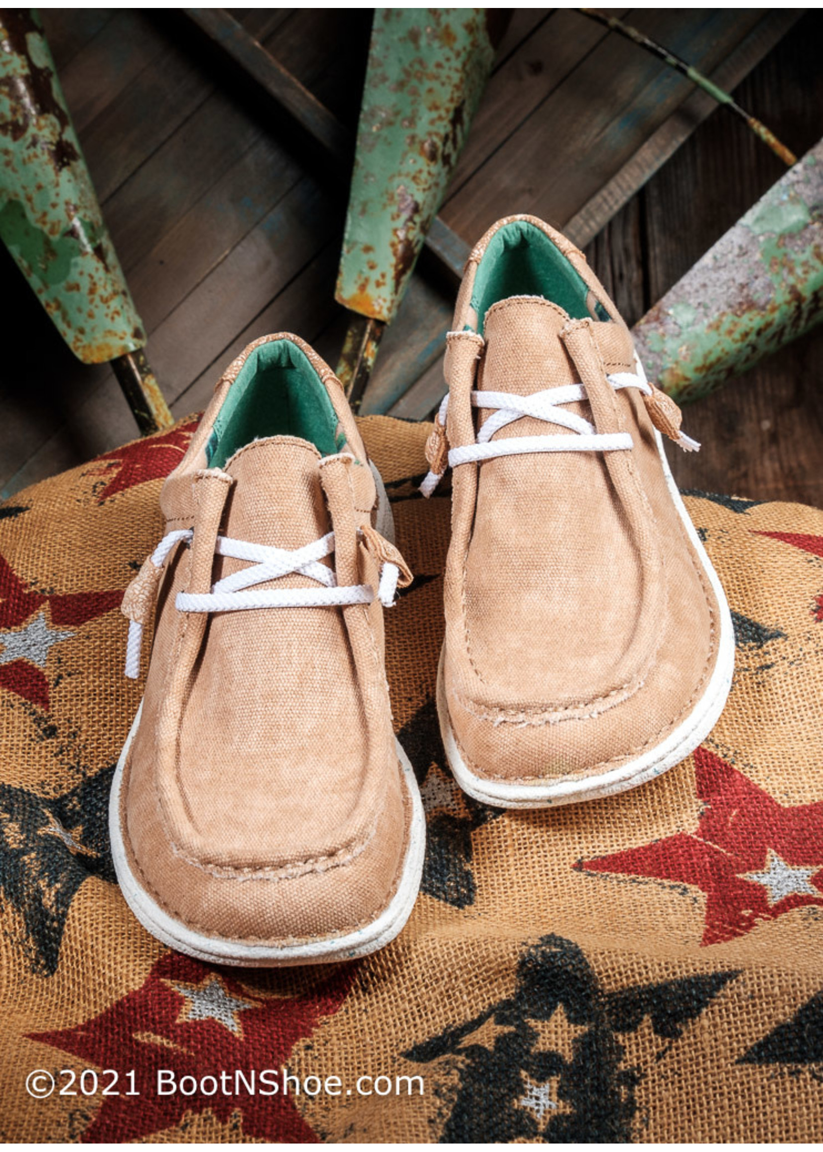 Justin Boots Women's Hazer Honey Canvas Casual Shoe JL161