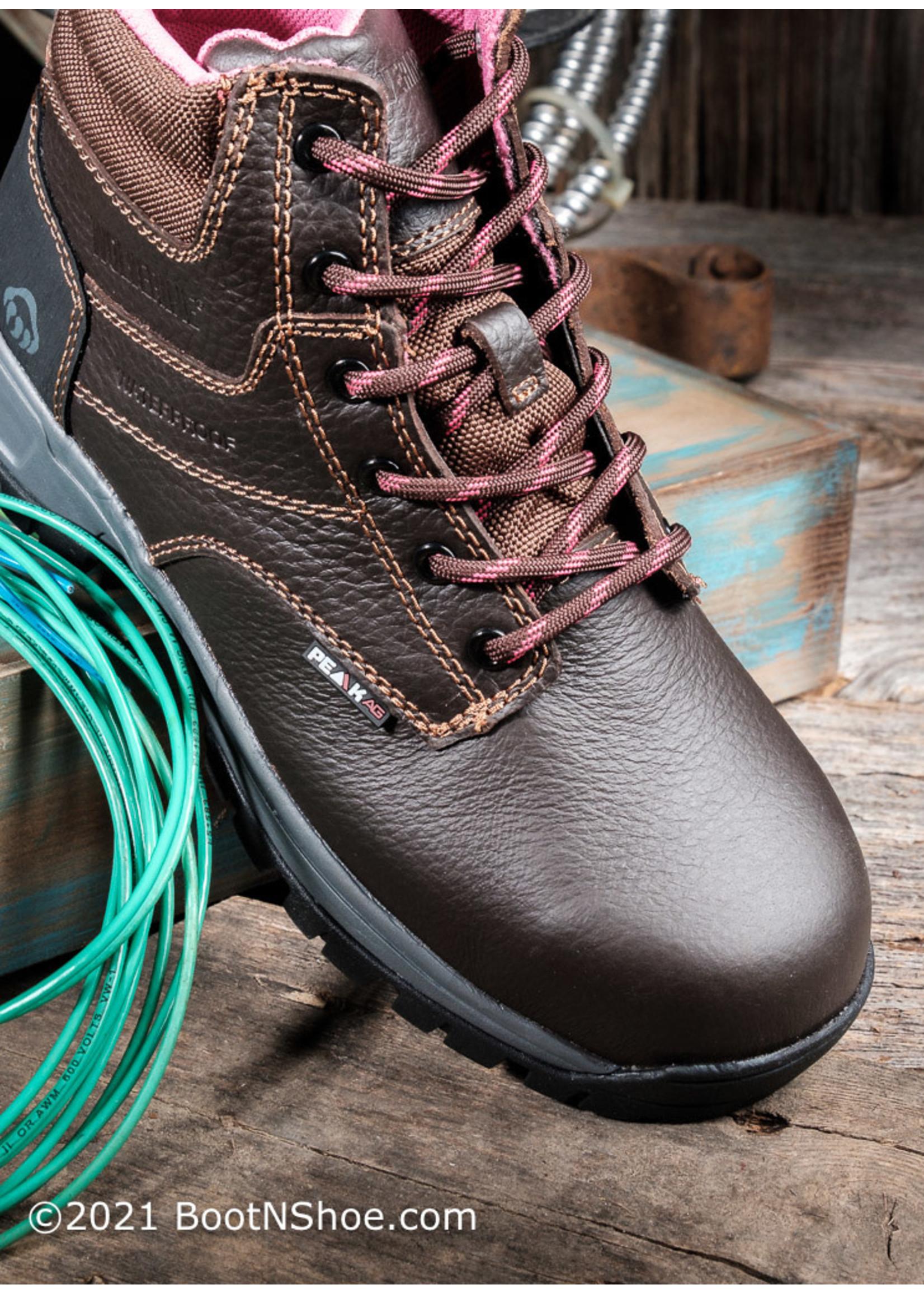 "Wolverine Women's Piper Waterproof Composite Toe 6"" Work Boot 10180"