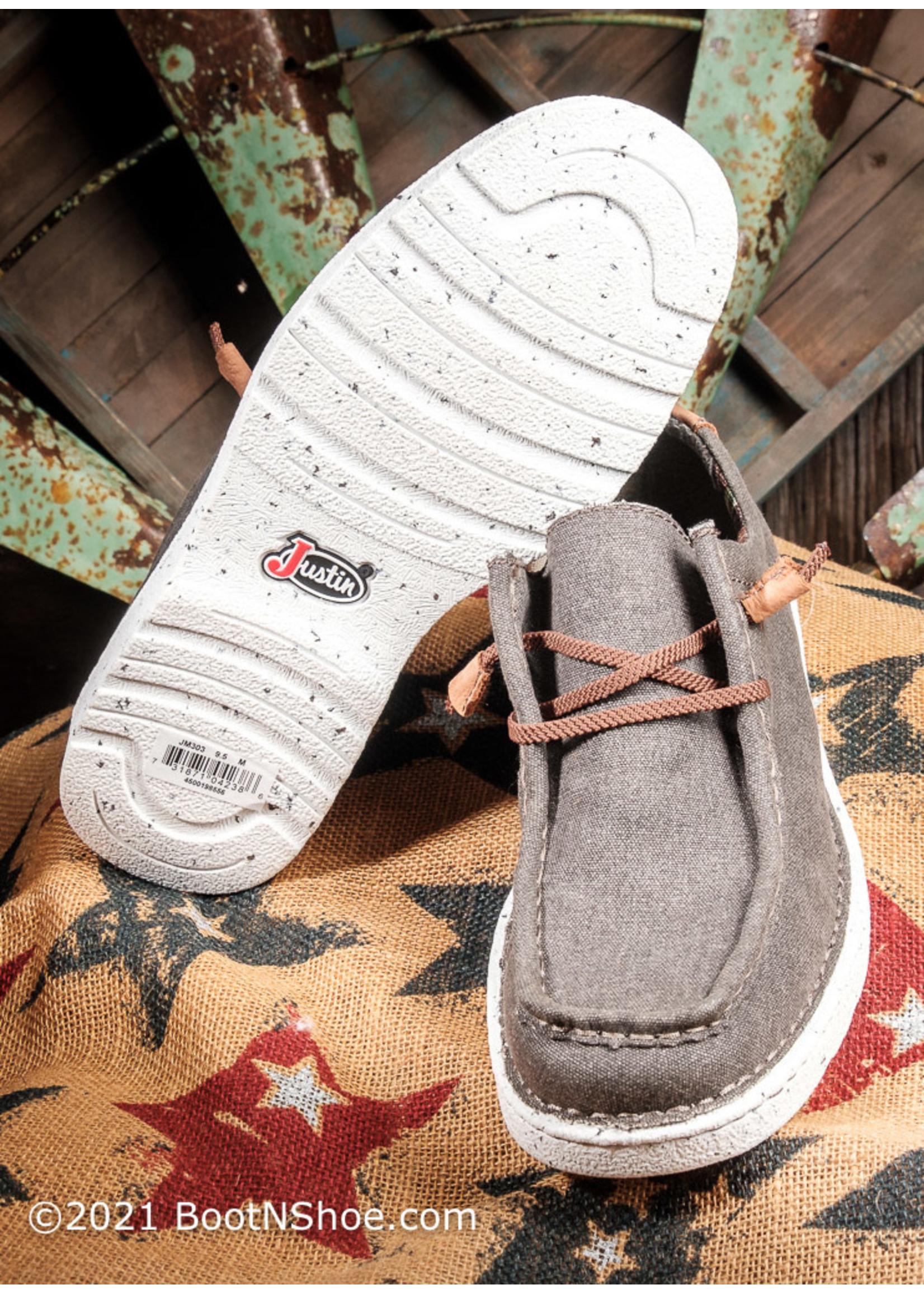 Justin Boots Men's Hazer Clay Canvas Moc Toe Shoe JM302