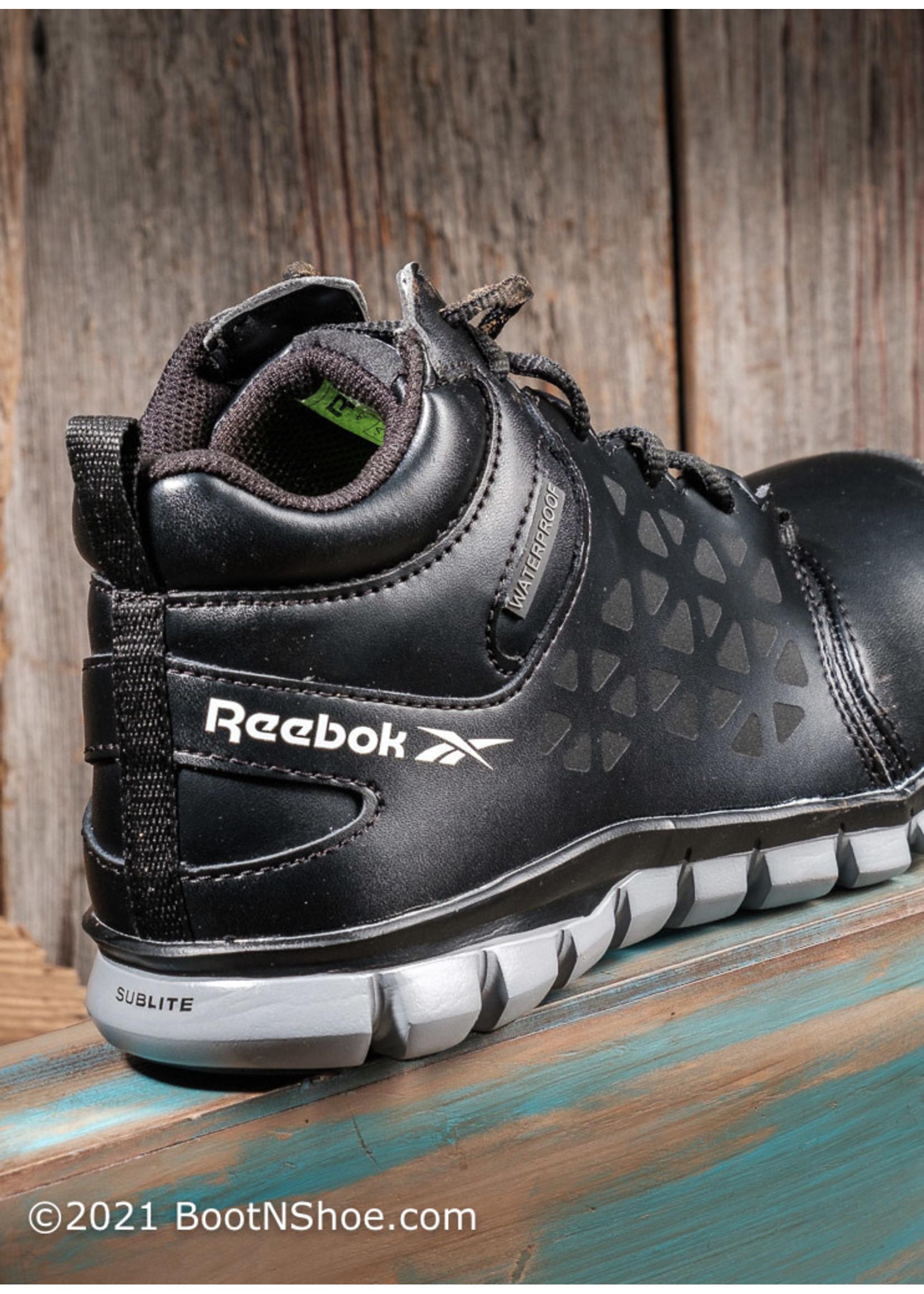 Reebok Men's Waterproof Sublite Cushion Mid-Cut Composite Toe Work Shoe RB4144