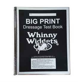 whinny widget Big Print Dressage Test Book