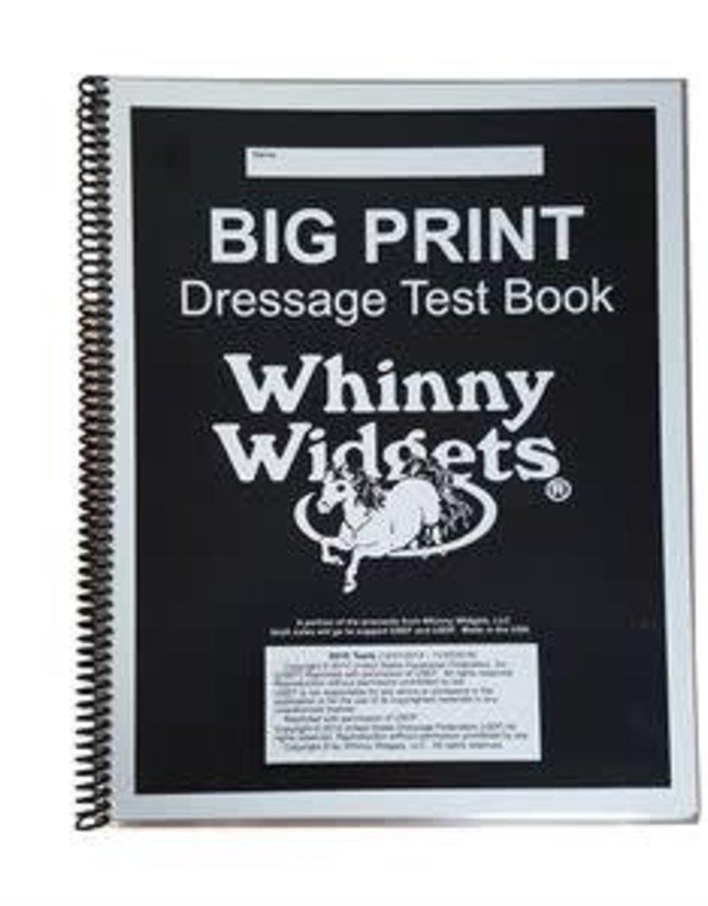 whinny widget Big Print Dressage Test Book