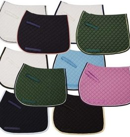 Tuff Rider SADDLE PAD TUFF RIDER BASIC WITH TRIM AND PIPING