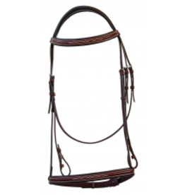 Royal Highness BRIDLE FANCY STITCHED ITAL LEATHER RHC