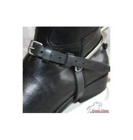 SPUR STRAPS RUBBER WITH KEEPERS