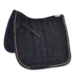 SADDLE PAD ROSE - BLK ROSE