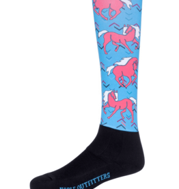 Noble Outfitters Socks Printed Peddies girls size