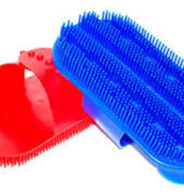 Plastic Curry Comb w. Strap - sarvis