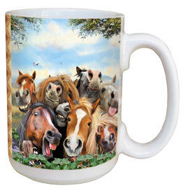Horse Selfie Mug 15oz Coffee