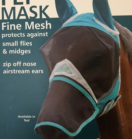SHIRES Fly Mask Fine Mesh zip off nose