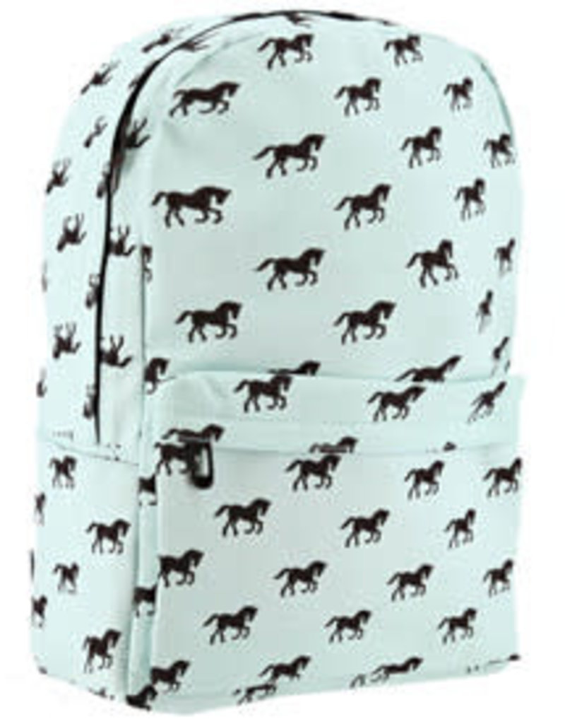 Backpack horse print canvas
