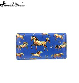 Montana West Horse Collection Secretary Style Wallet