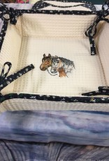 Bread Basket Embroidered Horses