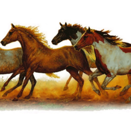 Running Horse Color Car Sticker