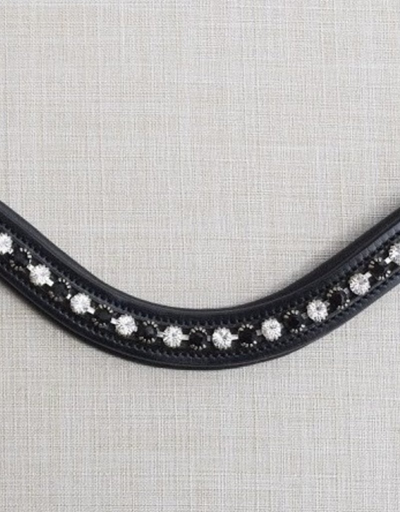 Curved Cadence Browband BLK/WHT CRYSTALS