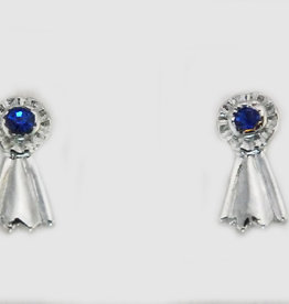"Earring Blue Ribbon ""Silver"""