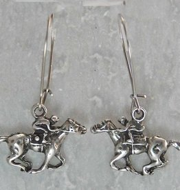 Thoroughbred on Wire earrings