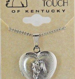 Horse heart locket