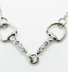 Silver color necklace snaffle bit