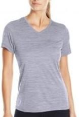 Charles River Womans Space Dye Performance V neck T shirt