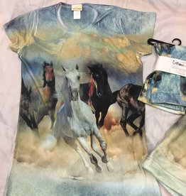Running Horse T Shirt Ladies