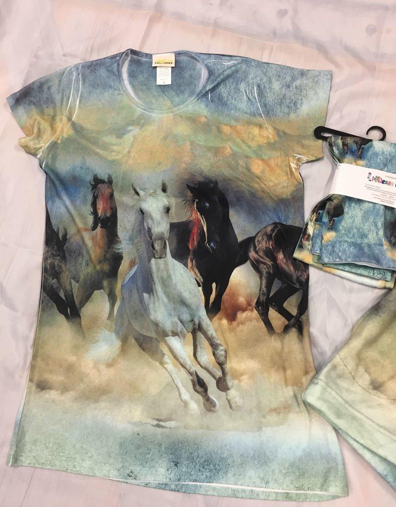 Running Horse T Shirt Ladies