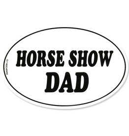 Vinyl Horse Show Dad Sticker