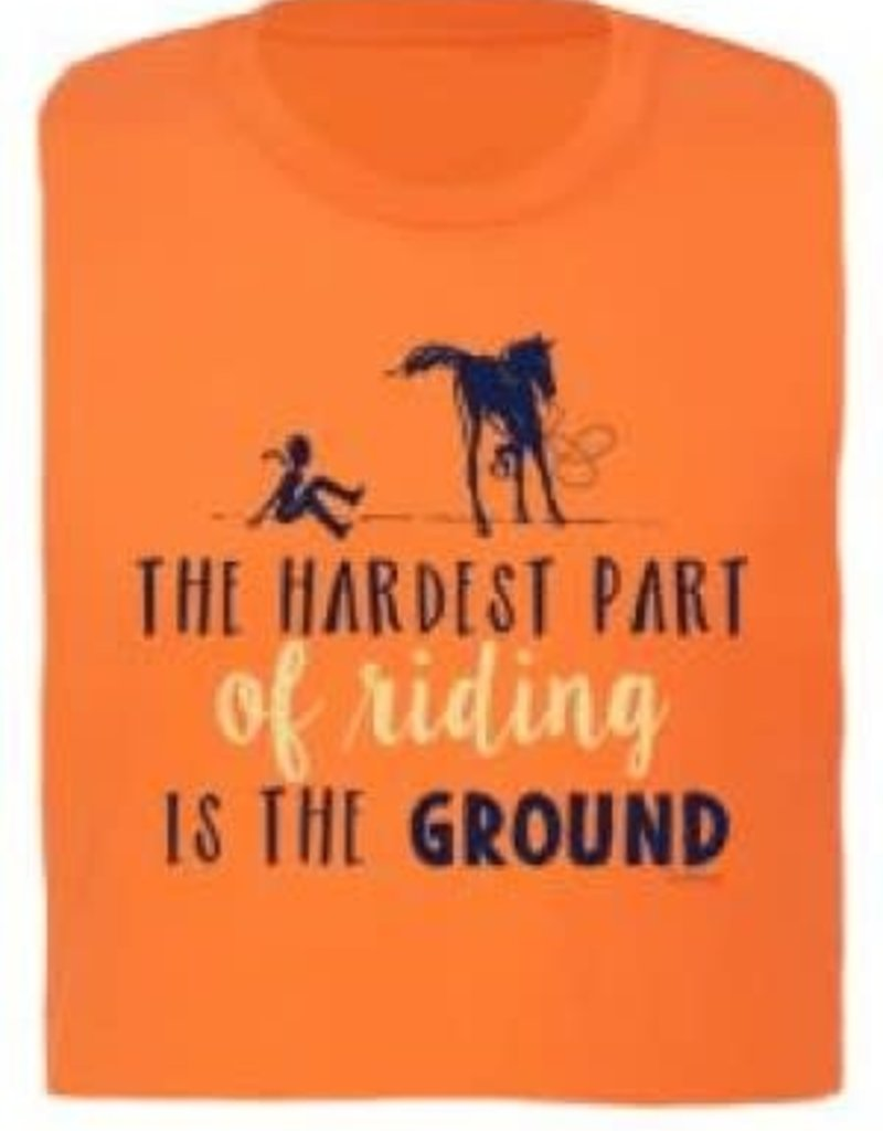 Stirrups T shirt - Equestrian Prep The hardest part of riding