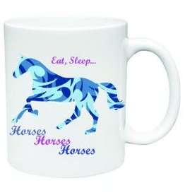 Mug Eat Sleep Horses