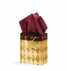 Gift Bag Gold Harlequin Small