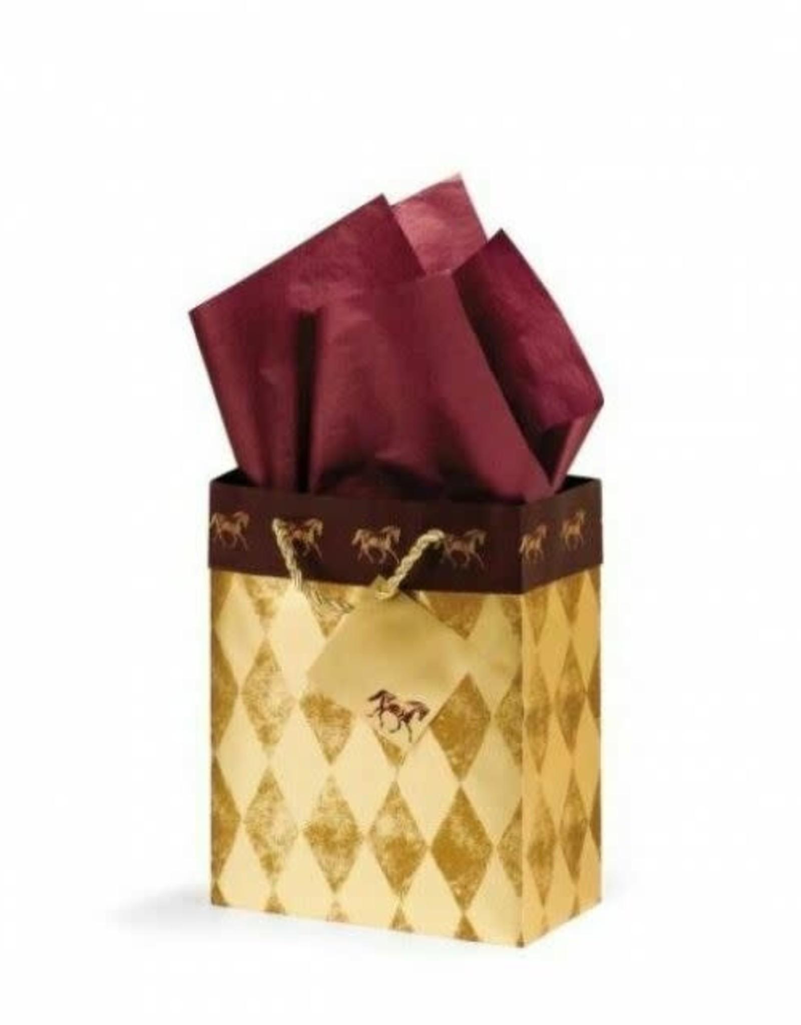 Gift Bag Gold Harlequin Small