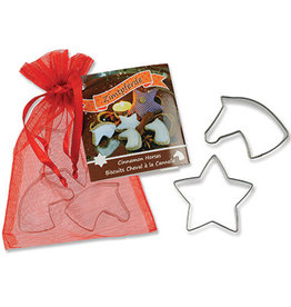 Cookie Cutter Set, 2 Mini Horse Heads and Mini Star