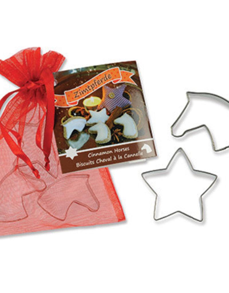 Cookie Cutter Set, 2 Mini Horse Heads and Mini Star