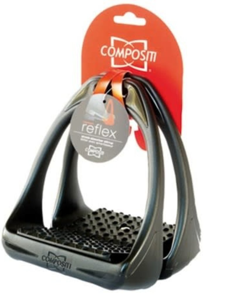 Compositi Reflex 3D Swivel Action Shock Absorbent Wide Track Stirrup Irons