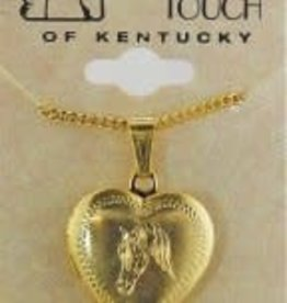 Heart  Shaped Locket w. engraved horse