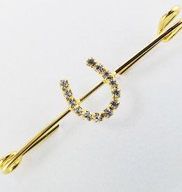 "Stock Pin ""gold"" horseshoe"