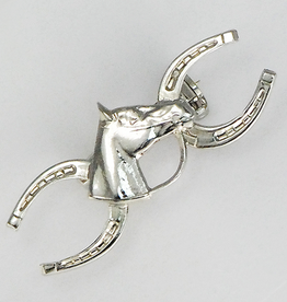 Pin Double Horseshoe w/ horsehead