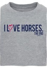 I love Horses - The End Kids Tee