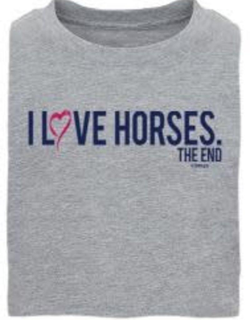 I love Horses - The End Kids Tee