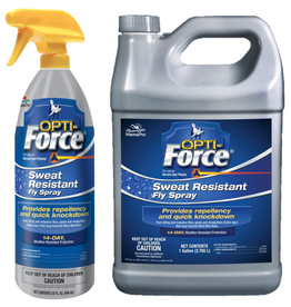 Opti-Force Sweat Resistant Fly Spray Liquid for Horses, 32 oz