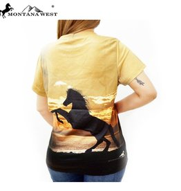 T-Shirt Rearing Horse Montana West