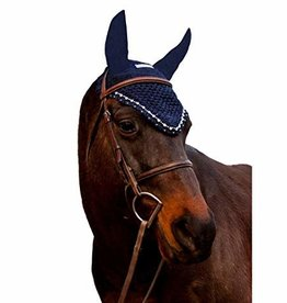 Equine Couture Equine couture Fly Bonnet W/Pearls & Crystals